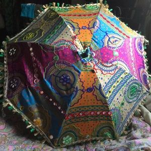 GYPSYSKIN Accents - Indian 🌈 Rainbow Colorful Sun Umbrella